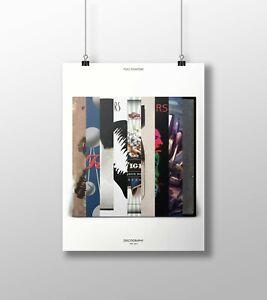 Foo Fighters: Studio Albums, Vinyl Discography Print - Fan, Gift, Poster, Art