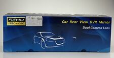 Car Rear View DVR Mirror Dual Camera Lens Full HD 1920X1080