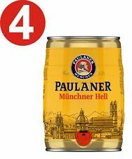 4 x Paulaner Münchner Hell 5 Liter 4,9% vol Partyfass EINWEG 3,02€/L