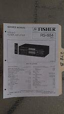 Fisher rs-884 service manual original repair book stereo receiver tuner radio
