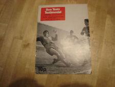 Liverpool Away Team Testimonial Football Programmes