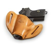 Bulldog MLTL Glock 17/19/21/22 Right Hand Tan Leather Handgun Belt Holster