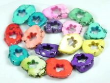"""Multi color Turquoise Cut Frame Star Freeforme Beads 16"""""""