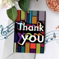 120s Thank You Greeting Card Singing Talking Card Musical Sound Chip 00002