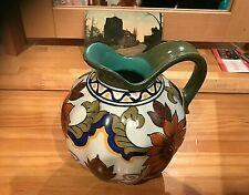 More details for vintage dutch gouda highly decorative jug  lovely colours