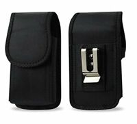 Black Nylon Pouch Case Cover Belt Clip loop Holster For Apple IPhone 8 / 7 / 6 S