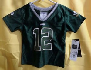 Aaron Rodgers Green Bay Packers Football Jersey NFL -Girls 18 Months- Blink