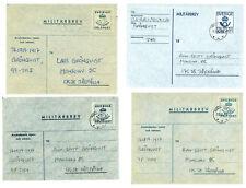 Sweden V31 Military mail Cover (4 pcs) used