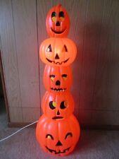 "Vintage Pumpkin Blow Mold, 1994 Don Featherstone, 34"" Lighted Yard Decoration"
