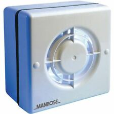 Manrose 100mm Axial Extractor Window Fan with Pullcord