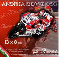Adesivo Moto Dovizioso 04 caricatura stickers carene casco 13 x 8 cm Ducati