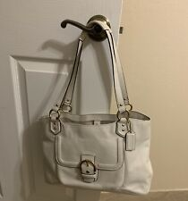 Buy COACH Campbell Belle Leather Carryall White get the Estee Lauder Bag FREE