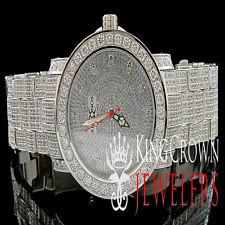 Genuine Diamond Mens Khronos/Joe Rodeo White Finish Custom Bezel And Band Watch
