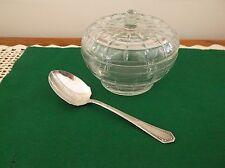 Vintage Apple Jelly/Jam/Condiment Jar w/Spoon~Sugar Bowl