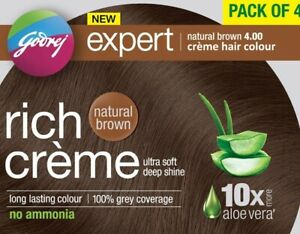 Godrej Expert Rich Cream Hair Color (Shade 4.00, Natural Brown)Pack of 4