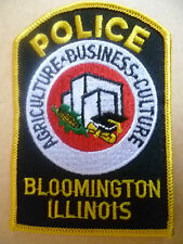 Patches: BLOOMINGTON ILLINOIS USA POLICE PATCH (NEW* apx. 10.5x7.5 cm)