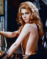 """JANE FONDA IN THE 1968 FILM """"BARBARELLA"""" - 8X10 PUBLICITY PHOTO (ZZ-836)"""