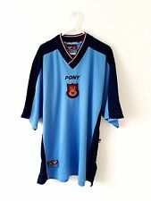 West Ham United Away Shirt 1997. Large. Blue Adults L Utd Football Top Only.