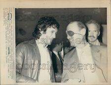 1971 Moshe Dayan Wearing Eye Patch With Son Assi of Israel Press Photo