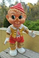 "VTG 1970's DISNEY ENSUEÑO PINOCCHIO SQUEEZE JUMBO 15"" FIGURE MADE IN MEXICO"