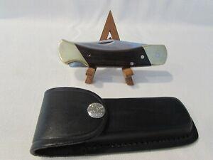Vintage Schrade+ LB7 USA Made Lock Back Pocket Knife With New Black Sheath