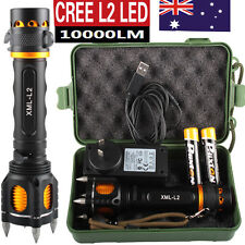 10000LM X800 Shadowhawk CREE L2 LED USB Self-defense Flashlight  2x18650 Battery