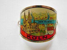 Köln, Germany-Old,use-shield mount hiking medallion /Stocknagel.