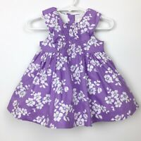 JANIE AND JACK LAYETTE Girl Purple White Floral Easter Dress 0-3mo