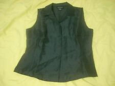 Ann Taylor Black sleeve less Blouse new w/o tags Size 2 !
