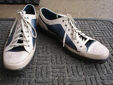 Super Stylish, High End ALDO BRUE 2 Tone Leather Sneaker--Made In Italy--Size 9