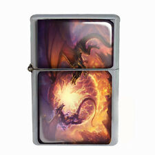 Wind Proof Dual Torch Refillable Lighter Dragon Design-009 Custom Medieval Beast