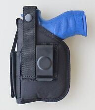 Hip Holster with Extra Magazine Pouch for WALTHER PPQ with UNDERBARREL LASER