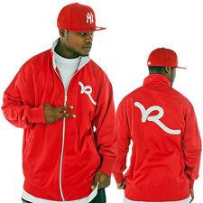 Rocawear Hombre Diseñador Chaqueta de pista, New Hip Hop Estrella era G es tiempo dinero crnbr