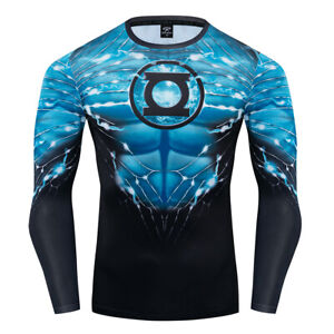 Summer T-shirts Compression 3D Printed Marvel Avenger Tops Gym Sports Tights