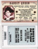 Belle Starr BANDIT QUEEN Choctaw Nation  Drivers License fake id card