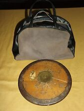 VINTAGE TRACK & FIELD MADE IN SWEDEN LINDESBERG WOOD IRON DISCUS DISKUS IN BAG