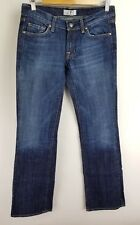 DPD Womens Jeans Straight Bootcut Medium Wash Embroidered Stretch Size 27