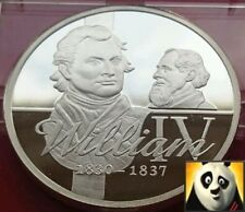 KING WILLIAM IV & CHARLES DICKENS SILVER PROOF COIN MEDAL + COA, ONLY 15,000!