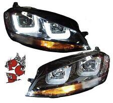 LED Tagfahrlicht Scheinwerfer schwarz VW Golf 7 LED U-DRL R Look orginal Sonar