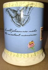 Hallmark Houston Harvest Small Pleasures Jar Item #21811 Blue White, Butterfly