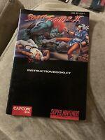 Street Fighter II 2 SNES Super Nintendo Instruction Manual Only