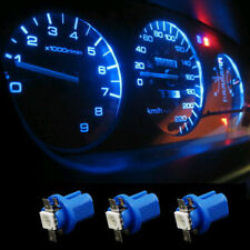 10Pcs T5 B8.5D 5050 1 SMD LED Blue Dashboard Dash Gauge Instrument Light Bulbs