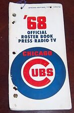 Chicago Cubs Official Roster Book press.tv 1968 Spring Edition  Ernie Banks