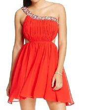 City Studio Embellished One-Shoulder Cutout Dress - Red - Size 3 (Juniors) - NWT