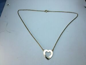 """9 Ct Gold Heart Pendant Necklace  16"""""""
