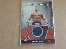 2010 Topps WWE WRESTLING DAVID HART SMITH SHIRT RELIC SWATCH E6829
