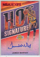 2018-19 Panini Hoops Los Angeles Lakers James Worthy Hot Signatures Auto