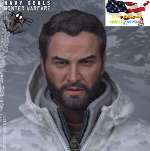 """1/6 male head sculpt snow soldier for 12"""" figure hot toys phicen ganghood ❶USA❶"""