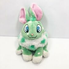 "Neopets 2005 Speckled Cybunny Plush 8"" Green & White Stuffed Toy"