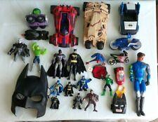 Dc Comics Action Figures,Vehicles Lot Of 24 Batman,Other Super Heroes Toys-67